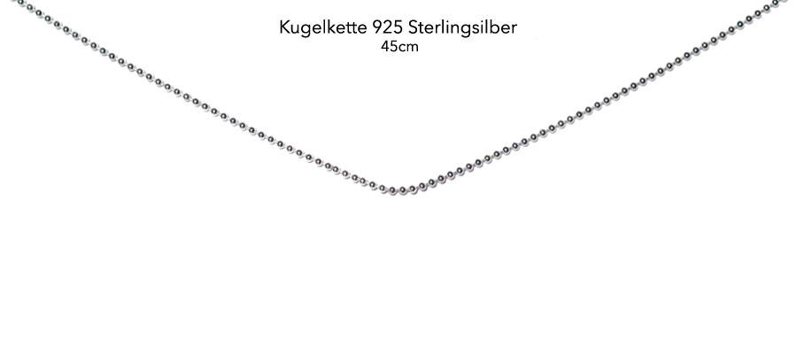 Kugelkette 925 vollsilber, 45cm